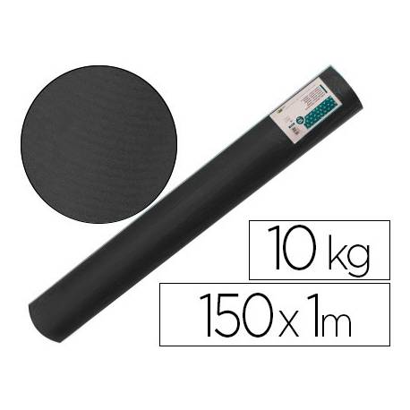 Bobina papel tipo kraft verdujado color negro 1x150 mt Liderpapel