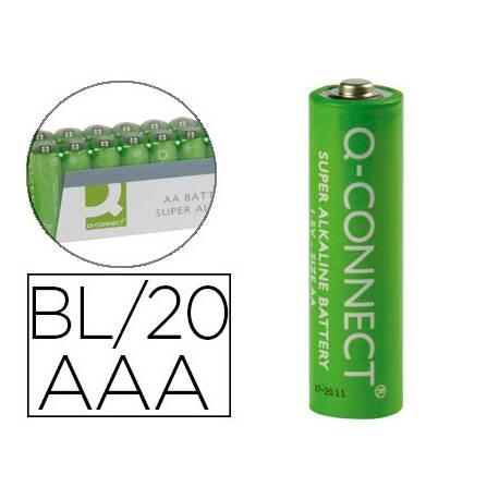 Pila Q-Connect Alcalina AAA Blister de 20 unidades