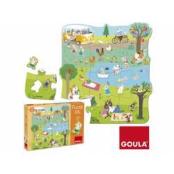 Puzzle a partir de 2 años Un dia en el campo XXL 16 piezas Goula