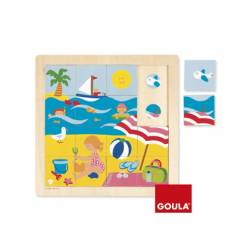 Puzzle Verano a partir de 2 años 16 piezas Goula