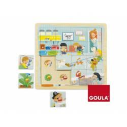 Puzzle Clinica Veterinaria a partir de 1 año de 16 piezas Goula