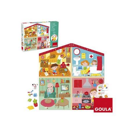 Puzzle en Casa a partir de 4 años de 38 piezas Goula
