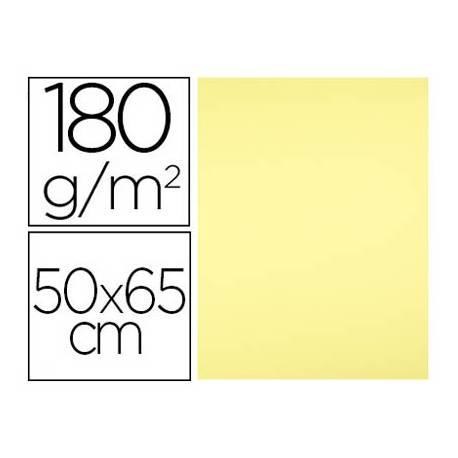 Cartulina Liderpapel color Amarillo Medio 50x65 cm 180 gr 25 unidades