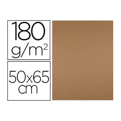 Cartulina Liderpapel color Marron Escolar 50x65 cm 180 gr 25 unidades