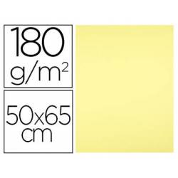 Cartulina Liderpapel color Amarillo Medio 50x65 cm 180 gr