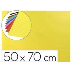 Goma eva Ondulada Liderpapel 50x70 cm color Amarillo