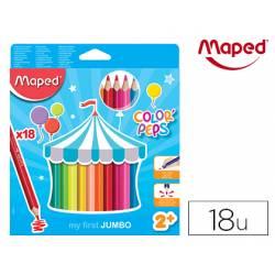 Lapices de colores Maped Color Peps Jumbo Caja de 18 unidades
