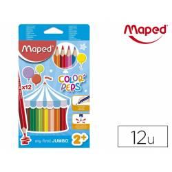 Lapices de colores Maped Color Peps Jumbo Caja de 12 unidades