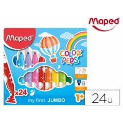 Rotuladores Maped Color' Peps Jumbo Punta Gruesa Caja de 24 rotuladores