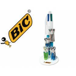 Expositor Boligrafo Bic cristal cuatro colores 0,3 mm