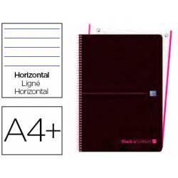Cuaderno Oxford Ebook 1 DIN A4+ Negro y Rosa 80 hojas Tapa Plastico Rayado Horizontal