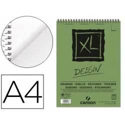 Bloc Dibujo Dessin Canson XL DIN A4 Microperforado Espiral Grano Fino