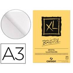 Bloc Dibujo Encolado Canson XL DIN A3 Bristol Extraliso