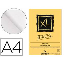 Bloc Dibujo Encolado Canson XL DIN A4 Bristol Extraliso