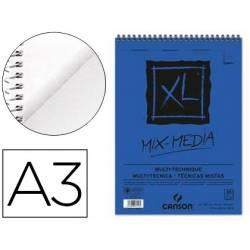 Bloc Dibujo Acuarela Canson XL DIN A3 Microperforado Espiral Grano Medio