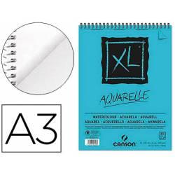 Bloc Dibujo Acuarela Canson XL DIN A3 Microperforado Espiral Grano Fino