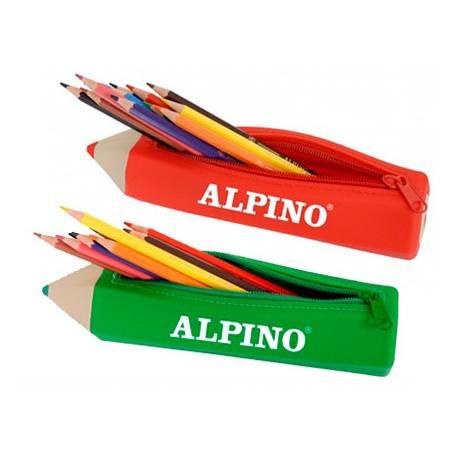 Estuche portatodo Alpino Forma de Lapiz con 12 lapices de colores -NO SE PUEDE ELEGIR COLOR-