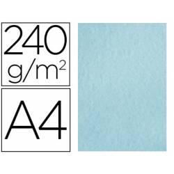 Papel Pergamino Liderpapel DIN A4 240g/m2 Color Azul Pack de 25 Hojas