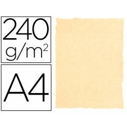 Papel Pergamino Liderpapel DIN A4 240g/m2 Color Crema Pack de 10 Hojas Con Bordes