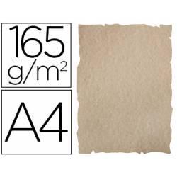 Papel Pergamino Liderpapel DIN A4 165g/m2 Color Arena Pack de 25 Hojas Con Bordes