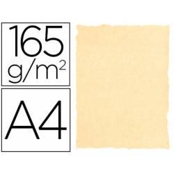 Papel Pergamino Liderpapel DIN A4 165g/m2 Color Crema Pack de 25 Hojas Con Bordes