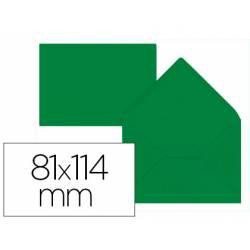 Sobre C7 Liderpapel 81x114mm 80g/m2 Color Verde Acebo Pack de 12 unidades