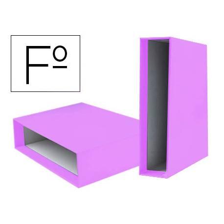 Caja Archivador Liderpapel Documenta Folio Lomo 75 mm color Lila