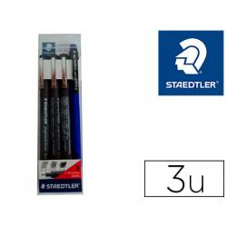 Rotulador Staedtler Calibrado Micrometrico Color Negro Bolsa de 3 unidades 0,2 0,4 y 0,8mm + Portaminas 777