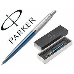 Bolígrafo Parker Jotter Waterllo CT Punta 1mm Tinta Azul Color Azul con Estuche