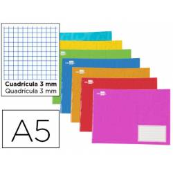 Libreta Liderpapel Write A5 cuadricula 3mm apaisada colores surtidos