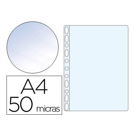 Funda Multitaladro Q-Connect DIN A4 50 MC Cristal Caja 100