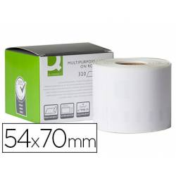 Etiqueta Adhesiva Q-Connect KF 18540 Compatible Dymo 54x70 mm Caja de 320 uds