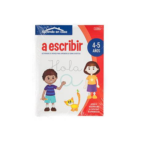 Cuaderno de Colorear Actividades para 4 a 5 años Aprendo a Escribir