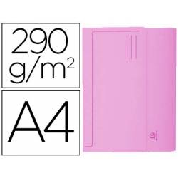 Subcarpeta Cartulina Reciclada DIN A4 Exacompta con bolsa Rosa 290 gr