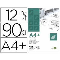 Papel Vegetal Liderpapel DIN A4+ de 90g/m2 12 hojas