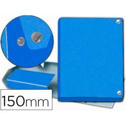 Carpeta proyectos Pardo folio 150 mm Carton forrado color azul con broche