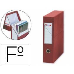 Archivador con tapa Pardo Carton Rojo 335x250x80 mm