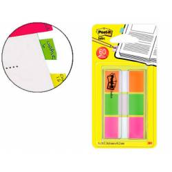 Banderitas Post-it ® Separadoras Index Medianas Colores Naranja, Rosa, Verde