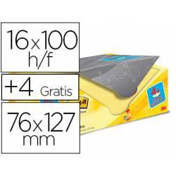 Bloc Quita y Pon Post-It ® Super Sticky 76x127 mm Color Amarillo Canario