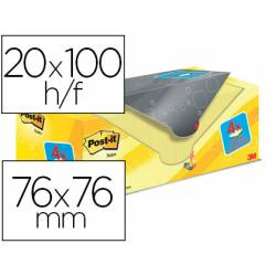 Bloc Quita y Pon Post-It ® Super Sticky 76X76 mm Color Amarillo Canario