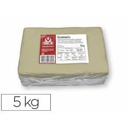 Pasta de Modelar Gres Sio-2 Paquete de 5 kg Color Blanco