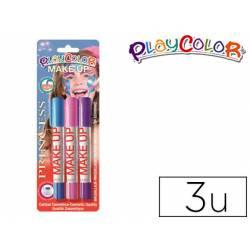 Barra de maquillaje Playcolor Princesa 3 unidades.