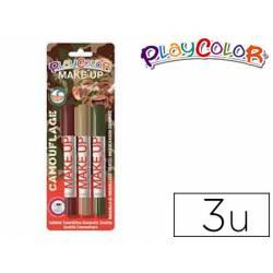 Barra de maquillaje Playcolor camuflage 3 unidades