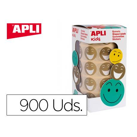 Gomets Apli smile color dorado 20mm