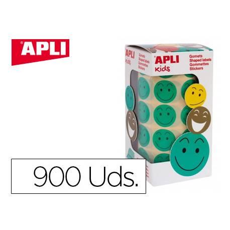 Gomets Apli smile color verde 20mm