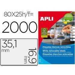 Etiqueta adhesiva de Apli 35,6 X 16,9