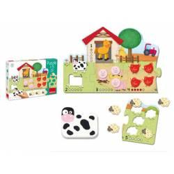 Puzzle a partir de 2 años Animales 1-5 Goula