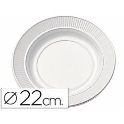 Plato plastico llano 22cm