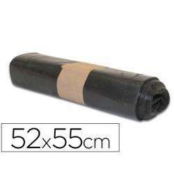 Bolsa basura domestica negra 52x55cm Galga 70 especial papeleras rollo 20 unidades
