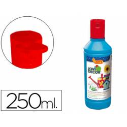 Pintura multiuso Jovidecor 250 ml color azul cyan